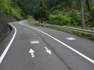 栗尾峠(旧道)は自転車歩行者道路になっている