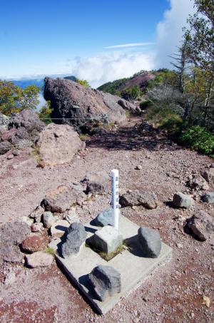 男体山三角点2486m