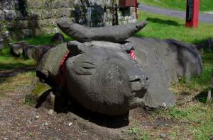 二荒山神社の牛