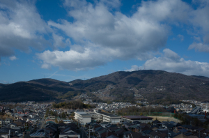 生駒山、暗峠の道もみえる
