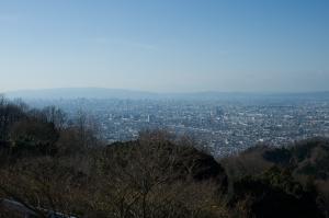 十三峠・大阪の展望