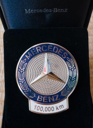 ベンツ10万キロ表彰